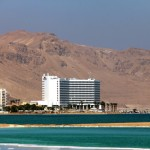 EIN BOKEK, ISRAEL – OCTOBER 28: World-renowned health resort complex on the Dead sea, which includes many hotels, beaches, spa baths, mud baths, solariums, etc. on October 28, 2013 in Ein Bokek, Israel.