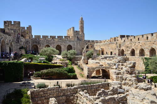 Tower of David The courtyard of the Museum of Jerusalem