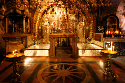 Golgotha Mountain, Temple of the Holy Sepulcher in Jerusalem, Israel