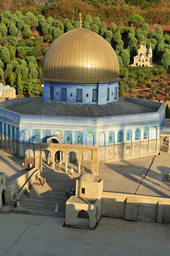 Miniature of Dome of the Rock in Jerusalem at Mini Israel a miniature park located near Latrun, Israel in the Ayalon Valley.