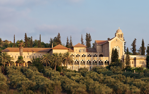Monatery is located 25 kilometers west of Jerusalem